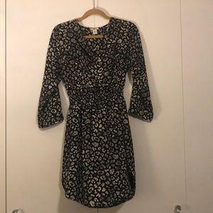 BarIII Black & White Leopard Print Dress